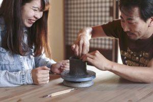 備前焼陶芸体験とカフェメニューのセット